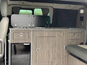 kitchen unit in campervan