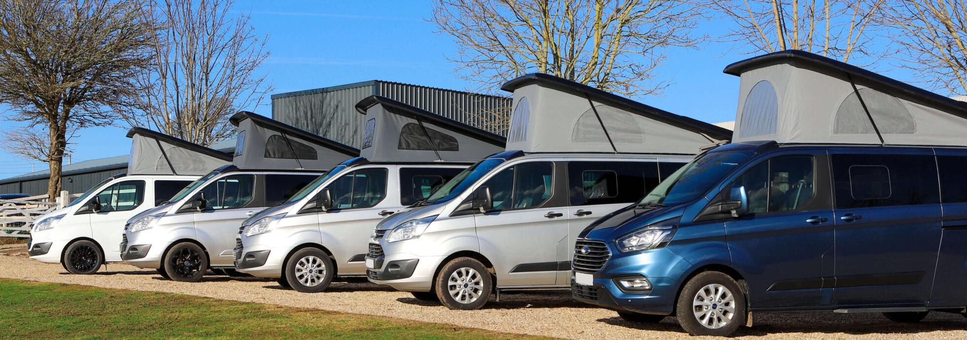 campervans lined up